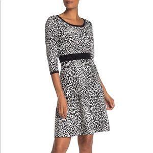 NINA LEONARD Leopard Dress